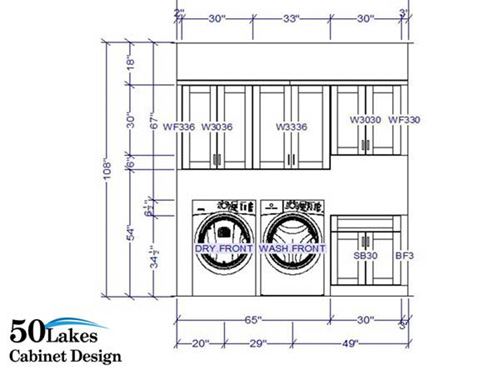 2020 rendering - laundry room - elevation view