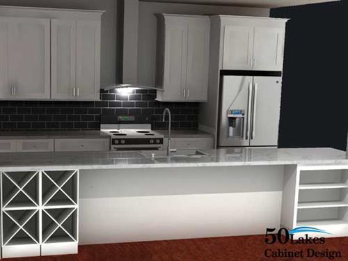 2020 rendering - kitchen island
