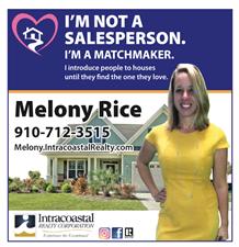 Melony Rice, Realtor with Intracoastal Realty