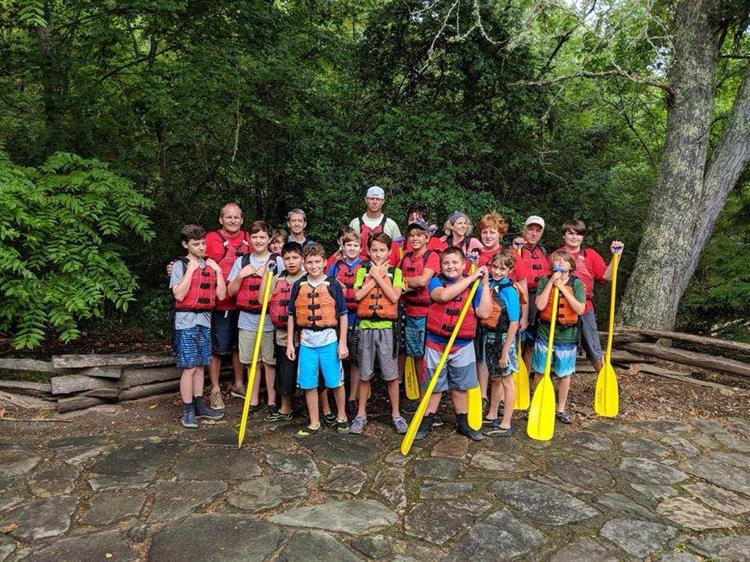 White water rafting with my troop