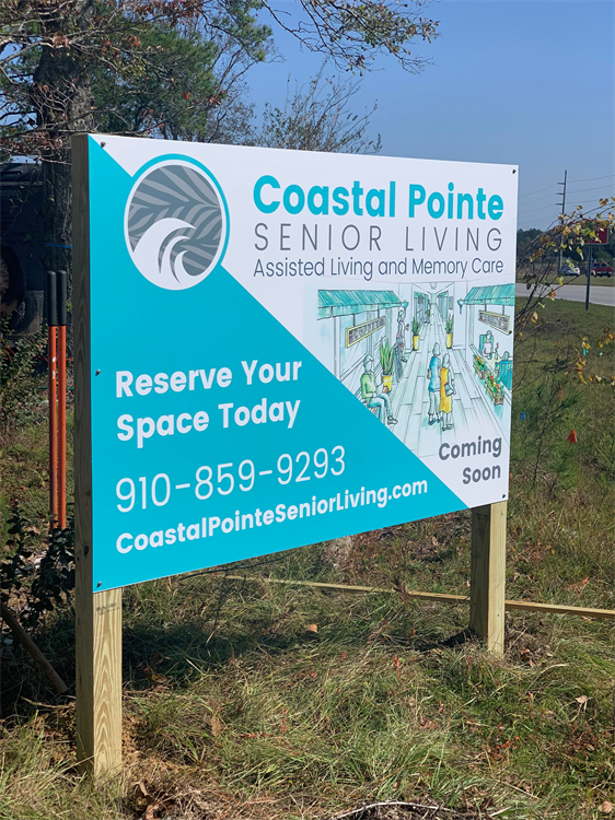 Coastal Pointe Temporary Road Sign