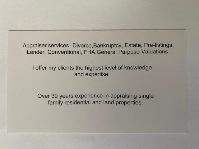 Forrester Appraisal Service