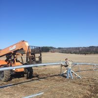 Constructing a Valley Center pivot