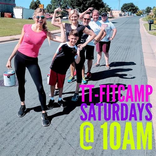 Join us on Saturdays at 10am for TT-FitCamp