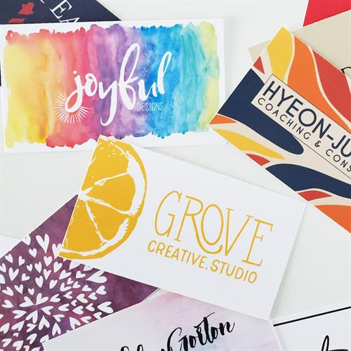 Assorted business card designs