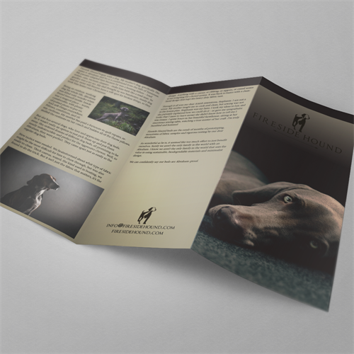 Brochure designed for Fireside Hound