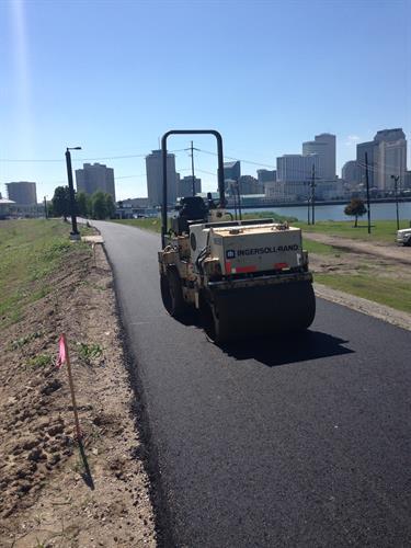 Mississippi River Levee, Algiers Bike Path