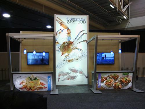 Louisiana Seafood exhibit