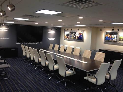 Shell-Motiva custom interior conference room