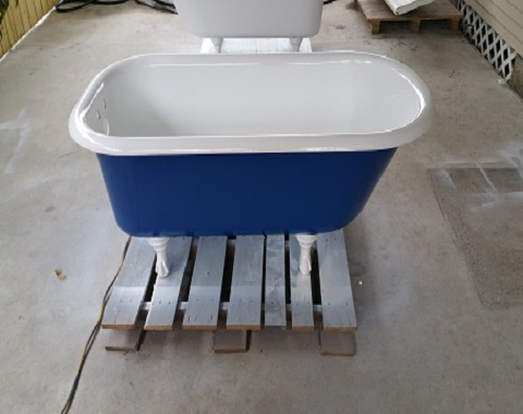 The old claw footed tub is no exemption.. we custom refinish them to your liking.
