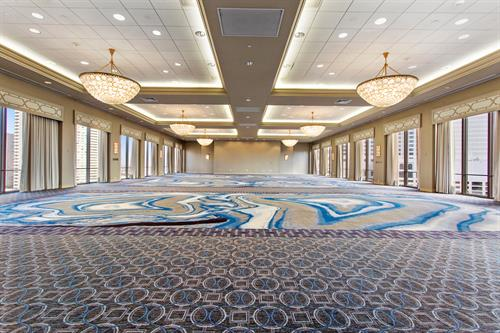International Ballroom with panoramic views of the River, downtown, and French Quarter