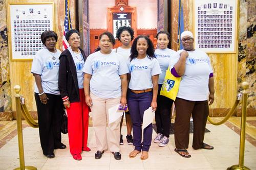 Parent Members participate in Lobby Day 2016 to advocate for children-focused policies in Baton Rouge.