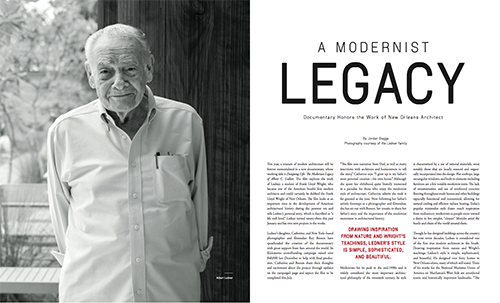 Legendary architect Albert C. Ledner's feature in VIE's 2017 Voyager issue