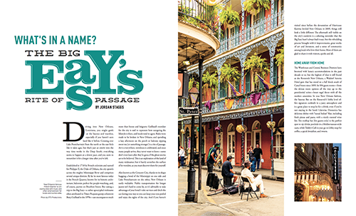New Orleans City Guide featured in VIE's 2017 Voyager issue