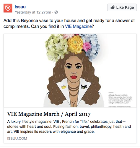 issuu post about VIE