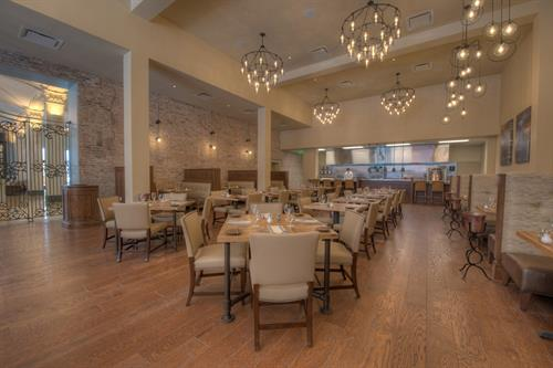 Public Service; Dining Room - Public Service is a casual-yet-sophisticated restaurant respecting the civic spirit of the former New Orleans Public Service, Inc. Chef Dustin Brien and team prepare a menu that honors the Gulf Coast's hard-working fishermen and farmers.