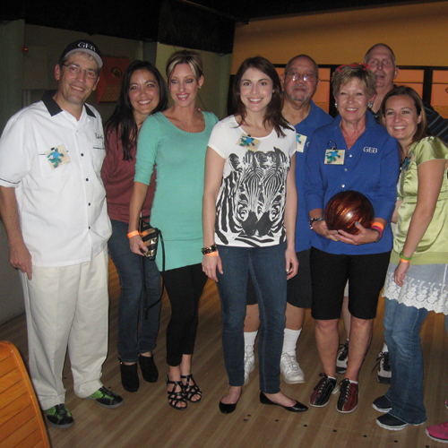 GEB associates enjoyed a fun night of bowling at the IIAGNO (Independent Insurance Agents of Greater New Orleans) 5th Annual Company Appreciation Night at Rock-N-Bowl.