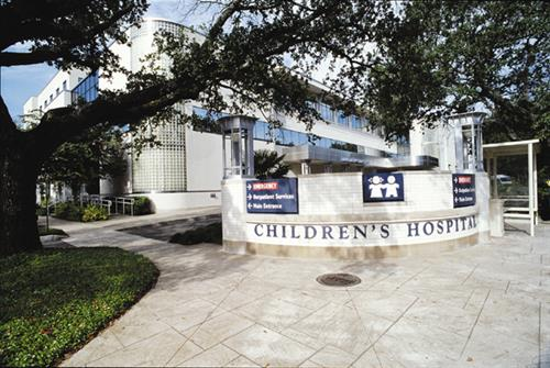 Children's Hospital at Henry Clay and Tchoupitoulas in New Orleans
