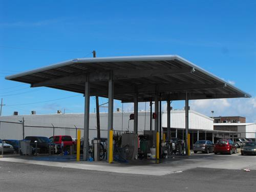 Car Wash Canopy- Metal Structure Installation