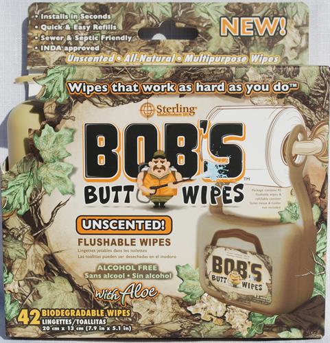Bob's Butt Wipes Tan Dispenser