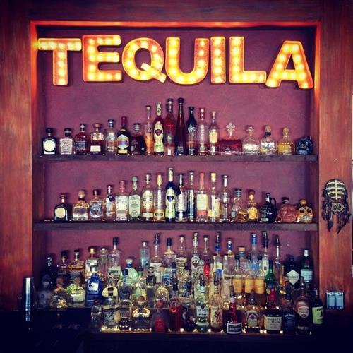 The tequila bar at Arana