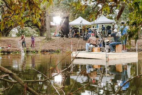 Behind the scenes at City Park for National Geographic films promotions