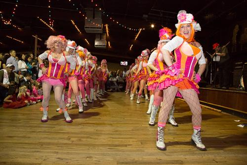 Pussyfooters dancing for Rotary charity