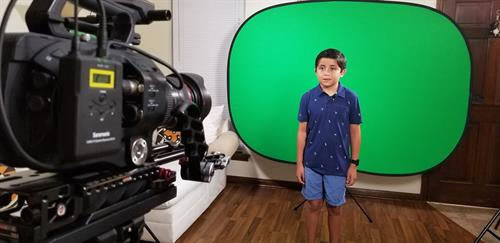 Green screen time!