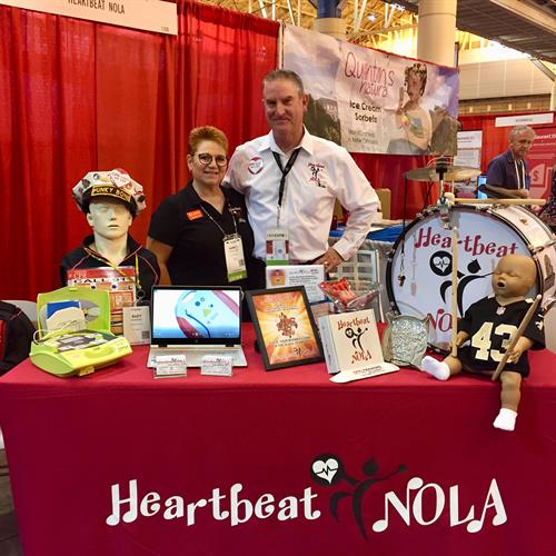 Hearbeat NOLA at the LRA show 2018. Our goal is to reach far into the hospitality industry in hopes that all restaurants, hotels and event venues have staff trained in CPR, AED and Emergency First Aid as well as a Publically Accessible AED.