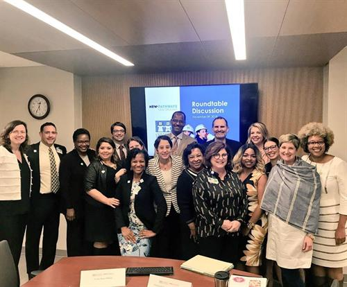NPNO convened mental and behavioral health leaders from around New Orleans to meet with the Childrens Hospital New Orleans leadership team
