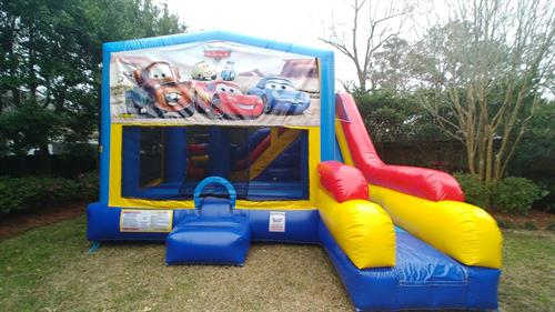 Cars 7in1 bounce house combo rental