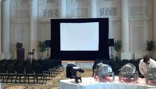 Mitey AV-Screen,Projector,Speakers,Mics