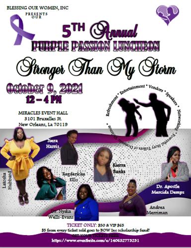 5th Annual Purple Passion Luncheon