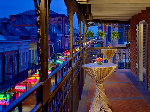 Bourbon Balcony Hospitality Suites are ideal for special events
