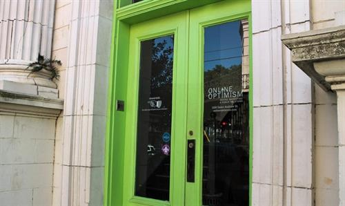 Our front door at 1100 Saint Andrew St. right off Magazine in the Lower Garden District of New Orleans.