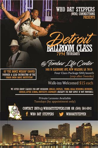 Who Dat Steppers/Urban Swing Dance Institute @ TLC