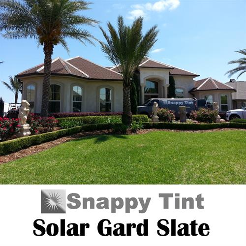 Solar Gard Slate 10 solar window film is an all metal construction product with great heat control