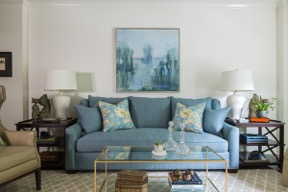 New Orleans Transitional Condo Living Room Copyright Susan Currie Design 2016