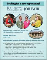 Rainbow Hospice Care to Host Career Fair
