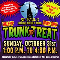 St. Paul's Lutheran Walk-Up/Drive-Thru Trunk or Treat