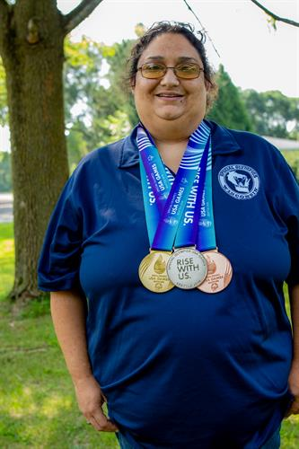 Sofia, a real Care Wisconsin member who is a gold medal winner in the Special Olympics