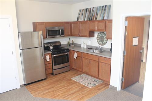 Kitchen in Premier two bedroom apartment