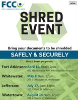 FCCU 2021 Shred Event Dates