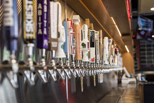 Over 50 Craft Beers on Tap