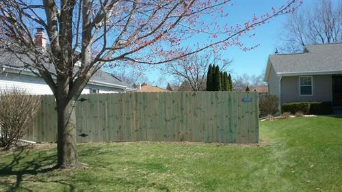 example of wood fence