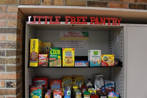 Research shows that college students and families of students struggle with food insecurity. We help our students focus on their studies by providing a free use food pantry.