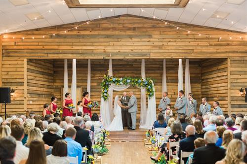 Indoor Ceremony at The Farm at 95