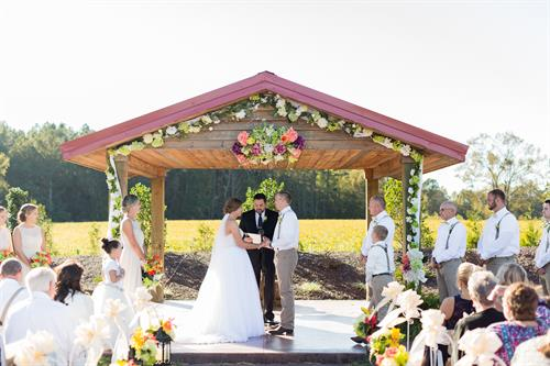 Outdoor Ceremony at The Farm at 95