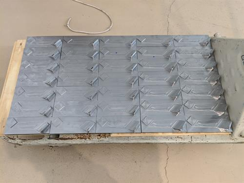 Production run of steel parts