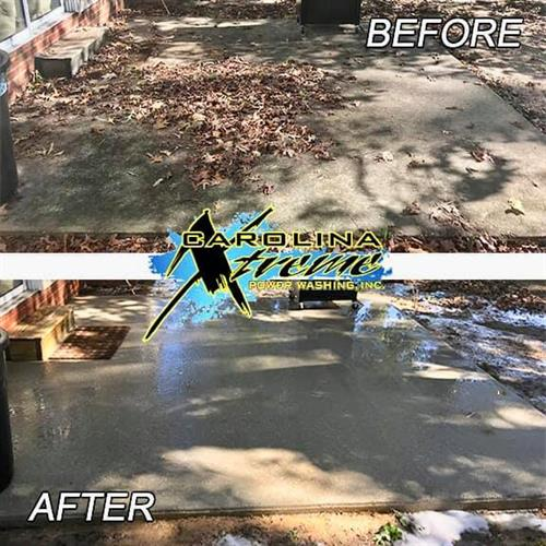 Residential Concrete Cleaning - patio in Raleigh, NC